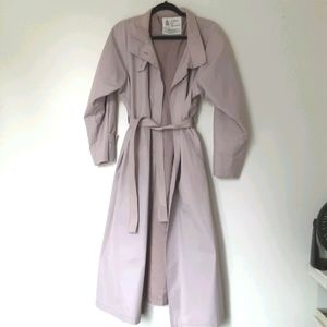 London fog lilac purple trench coat
